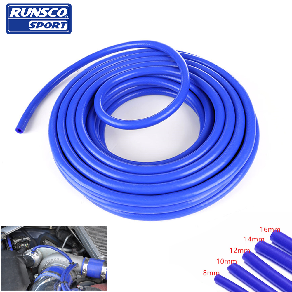 Universal Straight Section 4 Ply Hosing 3mm Internal Diameter Blue Silicone
