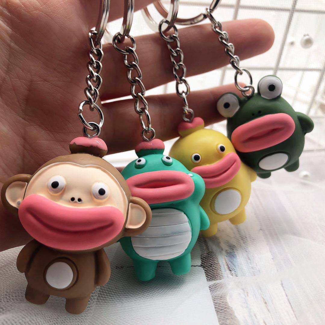 Charm  Doll Keychain  Car Bag Phone  Pendant Dinosaur  Cartoon  Resin  Animal