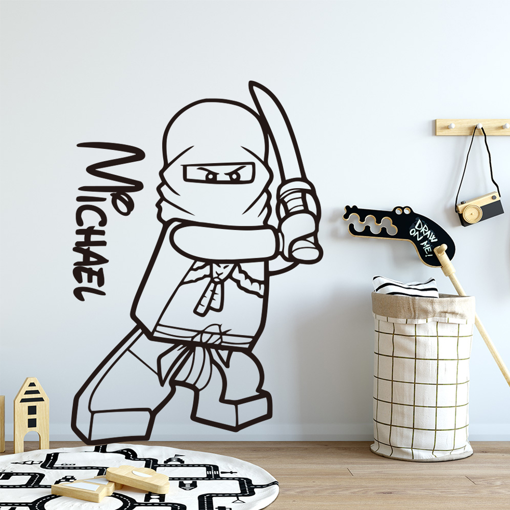 LEGO NINJAGO LLOYD PERSONALISED WALL STICKER children/'s bedroom decal art 3 size