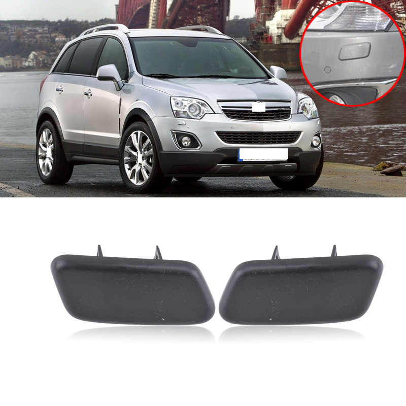 CAPQX For Opel Antara  Front bumper headlamp Headlight Washer Cover Cap Shell (no paint any color)  25953656 / 25953655