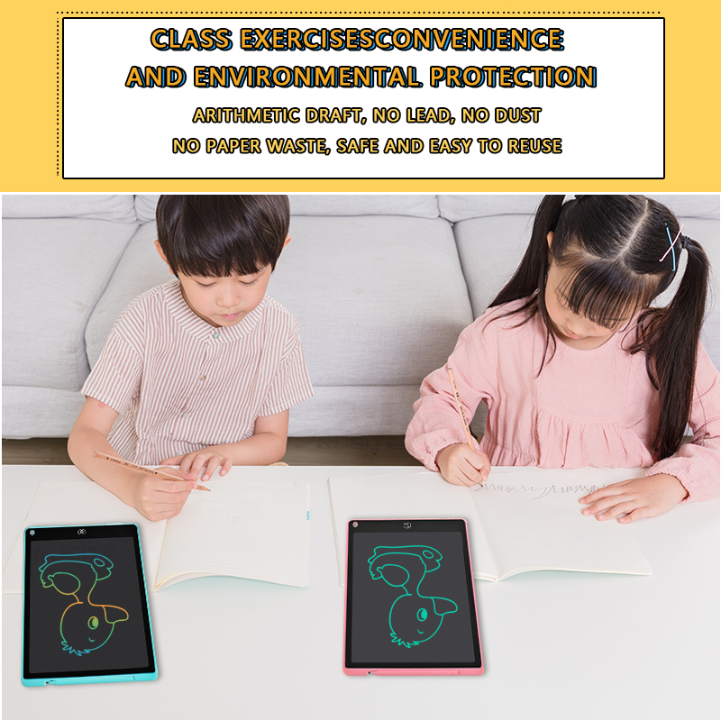 12 Inch LCD Writing Tablet Electronic Drawing Doodle Board Digital Colorful Handwriting Pad Gift for Kids and Adult Protect Eyes 10