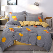 orange bedding sheet set single Twin full queen king size bedclothes bed set bedspreads No quilt(China)
