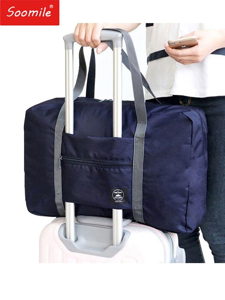 Новинка 2018 года нейлон складная дорожная сумка унисекс большой ёмкость сумка чемодан для женщин непромокаемые сумки мужчин дорожные сумки ...