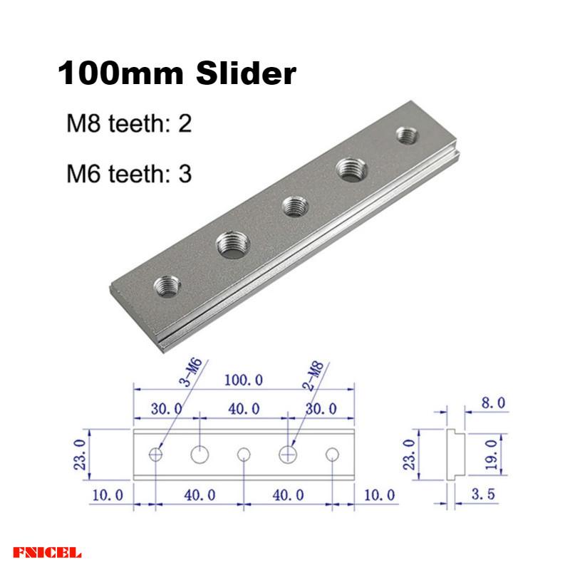 5 Stücke M8 T-Track Slider Gleit Mutter Aluminium Legierung T Nuten Stein UV3 1X