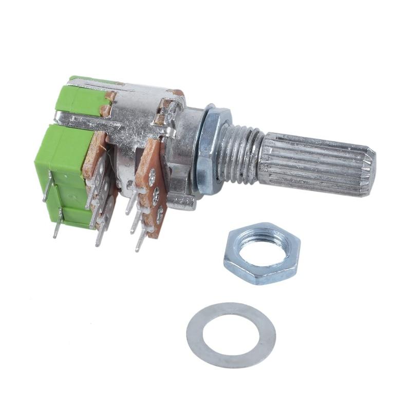 B50K 50K Ohm Dual Linear Taper Volume Control Switches Potentiometer Switch CA