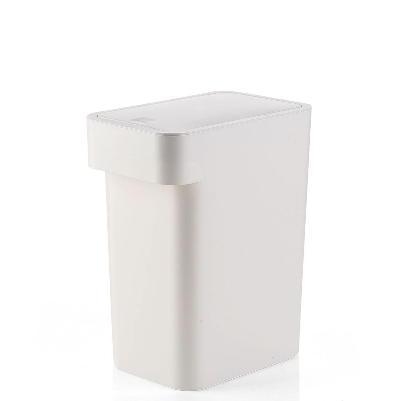 se Puede Abrir a pie TRASH CAN Bote de Basura con Tapa Color : Beige, Tama/ño : 8L
