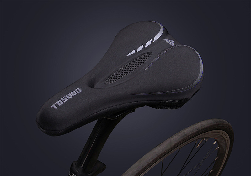 Clothing - Bike Saddle Cover, Soft Silicone Padded, Comfort Breathable Bicycle Seat Cover - for Mountain Road Bike Outdoor Cycling
