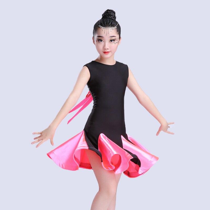 Children/'s Latin Dance Skirt Children/'s Dance Piece Dance Dress Girls Grading Competition Clothing Girl Art Test Clothes