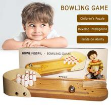 Toy Bowling Game-Toy Sports-Ball Interactive-Table Educational Funny Kids Mini Indoor