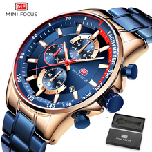 Blue Watch Quartz-Clock Metal-Strap Mini Focus Top-Brand Fashion Luxury Calendar-Sports