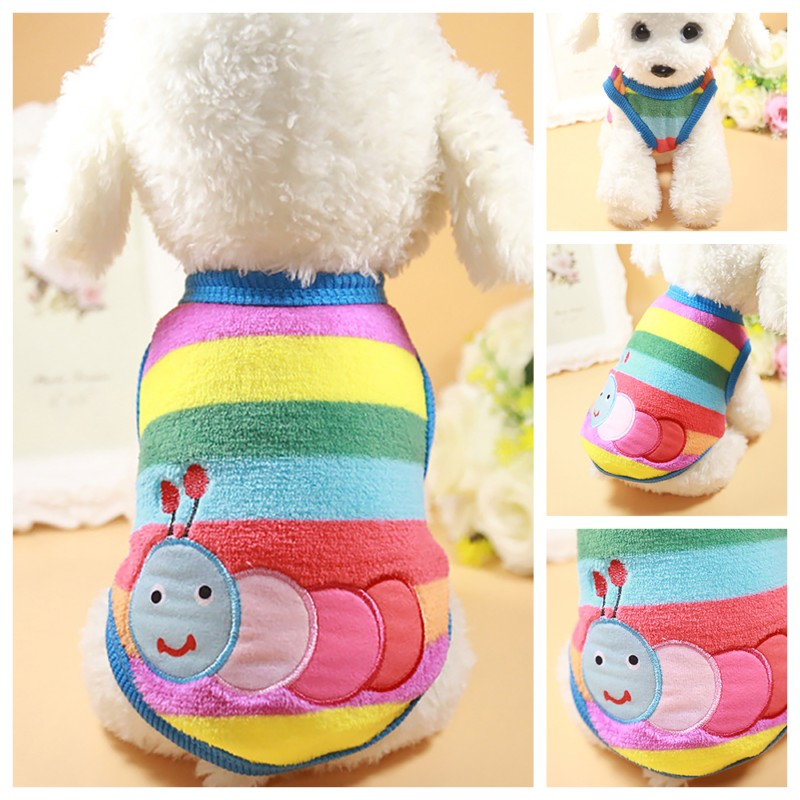 Classics Pet Dog Clothes For Small Dogs Clothing Pet Coat Cartoon Clothes For Dog Sweater Vest Clothes Teddy Chihuahua Jacket (5)