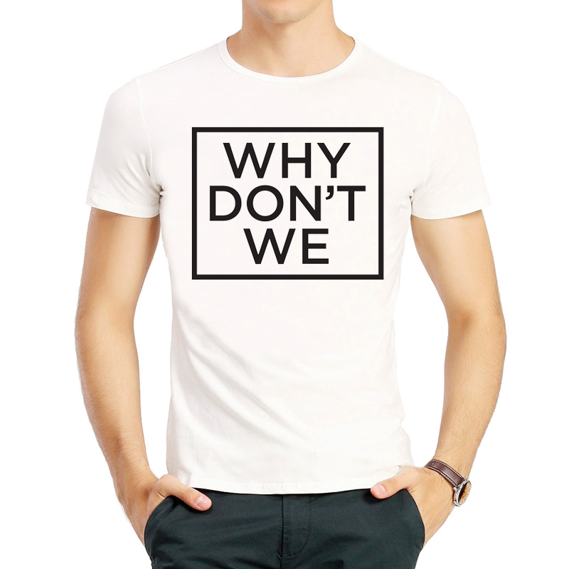 Why Don't We T-Shirt White Color Mens Clothes Short Sleeve Why Dont We Logo T Shirt Tops Tees tshirt Fashion Band T-shirt