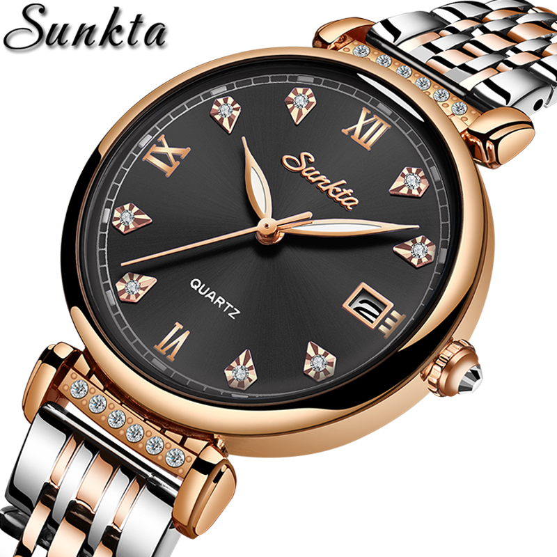 LIGE Brand SUNKTA Fashion Women Watch Business Quartz Watch Ladies Top Brand Luxury Female WristWatch Girl Clock Relogio Feminin