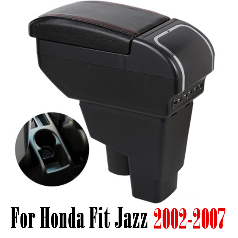 Storage-Box Arm-Rest Console Center-Centre 2004 Honda Fit Jazz 2005 Hatchback 2007  title=