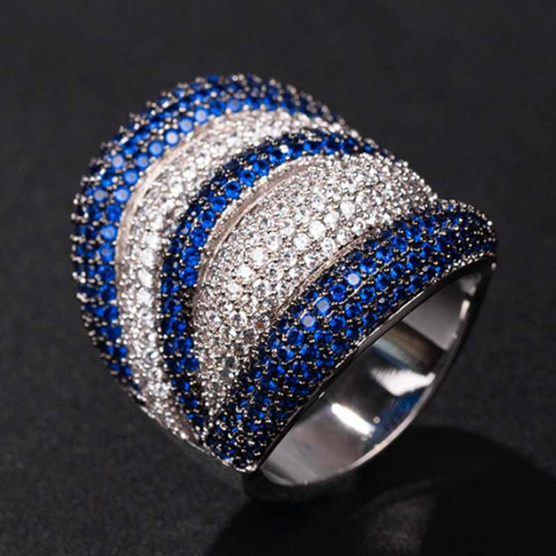 Zlxgirl jewelry luxury brand full pave cubic zircon copper ring jewelry fine women and men couple accessory anel rings