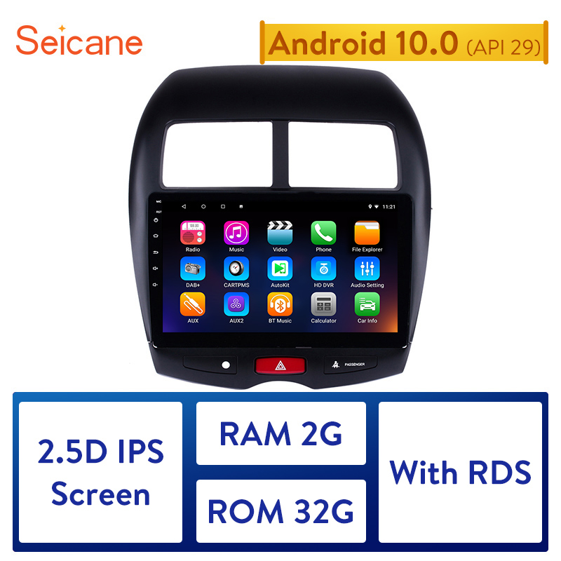 "Seicane 10.1"" Android 10.0 Car GPS multimedia Radio Navi player For 2010 2011 2012 2013 2014 2015 Mitsubishi ASX Peugeot 4008"