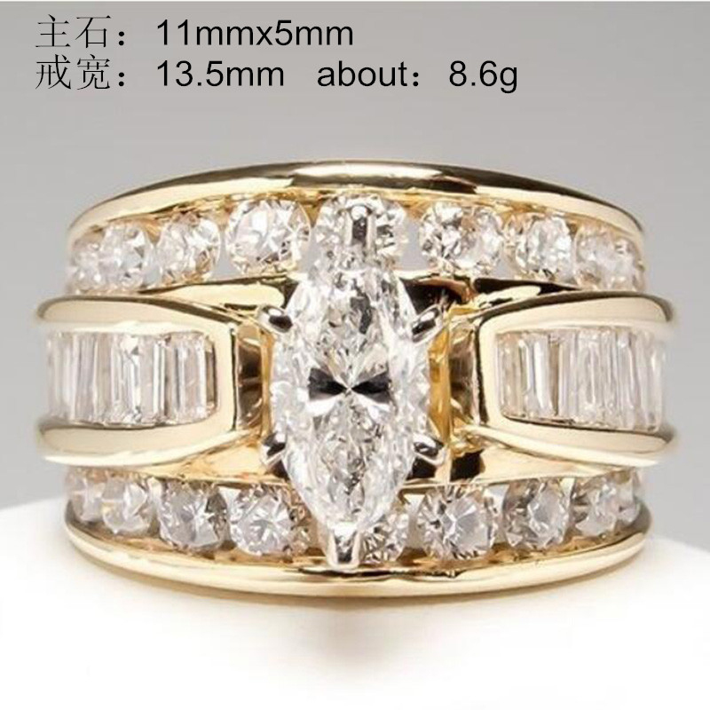 YOBEST Crystal Ring Temperament-Ring American Large Popular Charm Classic And New-Products title=