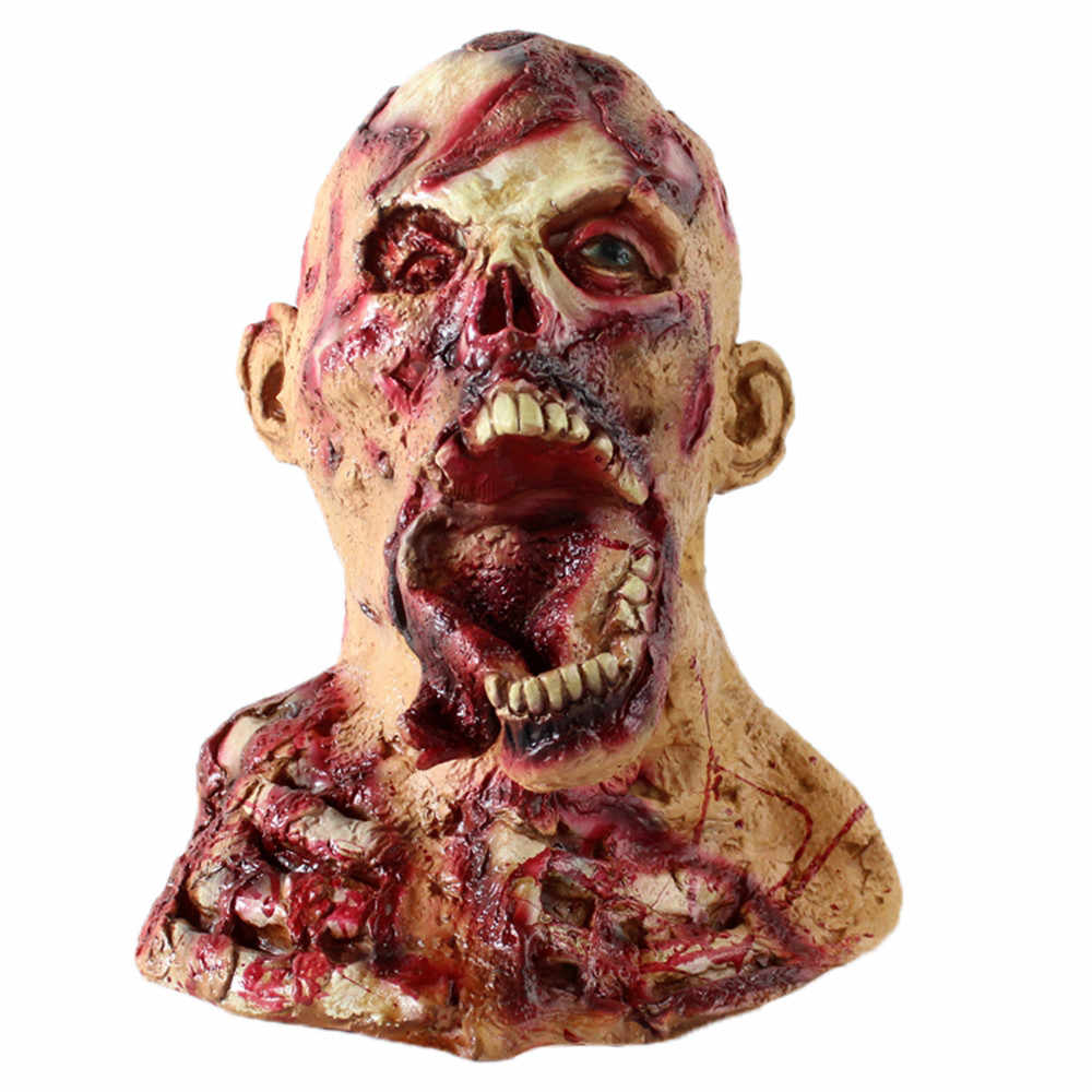 Halloween Horror Mask Zombie Masks Party Cosplay Bloody Disgusting Rot Face Scary Masque Masquerade Mascara Terror Masker Latex