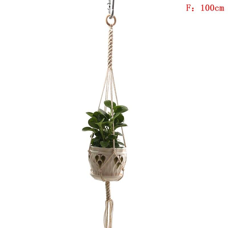 Cintres en Plante Macram/é /Étag/ère Int/érieur Ext/érieur Tenture Murale Planteur D/écoratif Pot De Fleur Titulaire Boho D/écoration