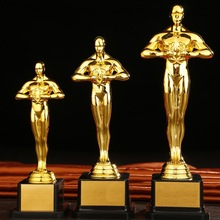 Trophy Statue Custom Oscar Souvenir Sports Team Small Gold Gift Celebration Competition-Craft