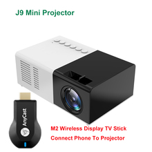 Mini Projector J9 Wireless-Screen Support 1080p-Video Home Theater with M2 Mirroring-Display