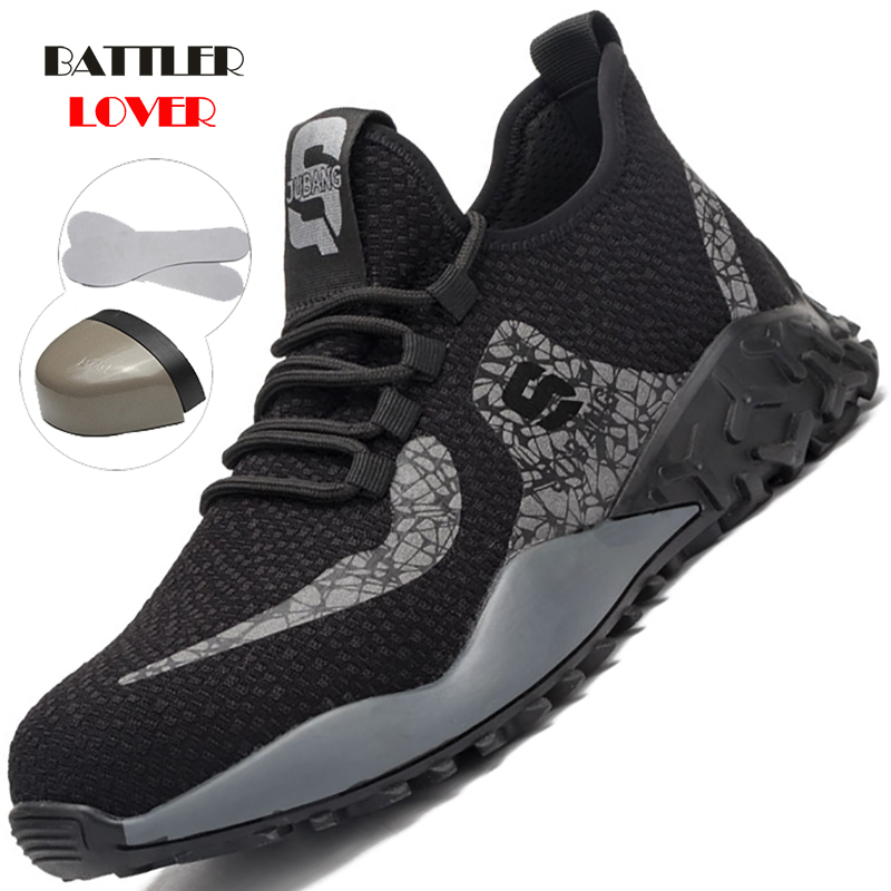 2020 New Work Safety Shoes Puncture Proof Work Anti-smashing Construction Steel Toe Indestructible Shoes Dropshipping Men Women