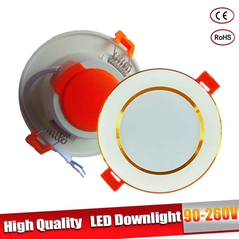 LED Downlight Focos Led Techo 3W 5W 9W 12W 15W Round Recessed Lamp 220V 110V For Cocina Cuarto Living Room LED Spot Lighting