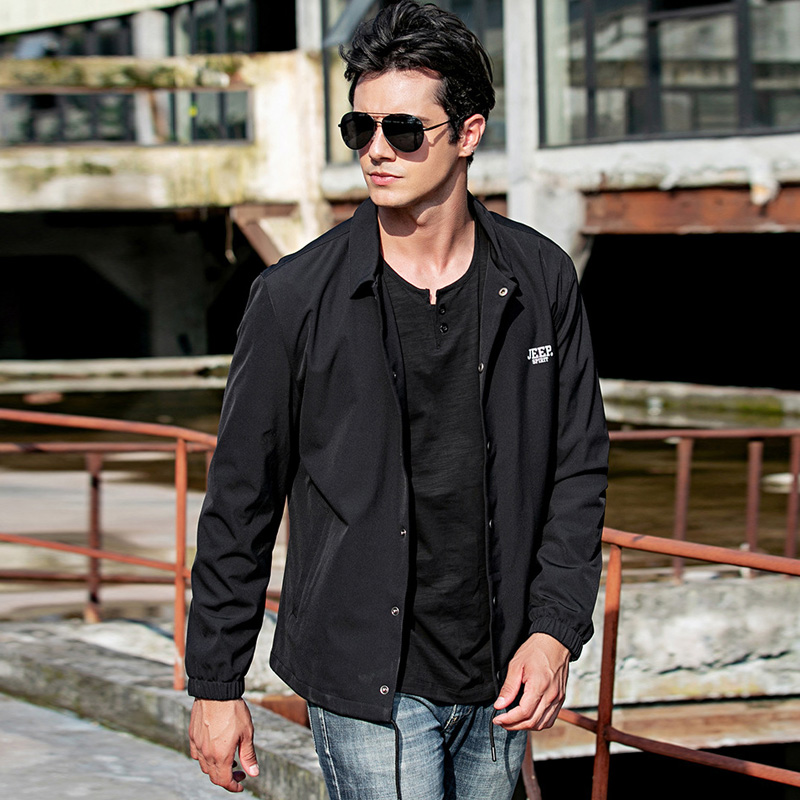 JEEP SPIRIT 2020 Spring New Jacket Men Casual Loose Coat Men Veste Homme Plus Size M-4XL Mens Jackets and Coats Chaquetas Hombre