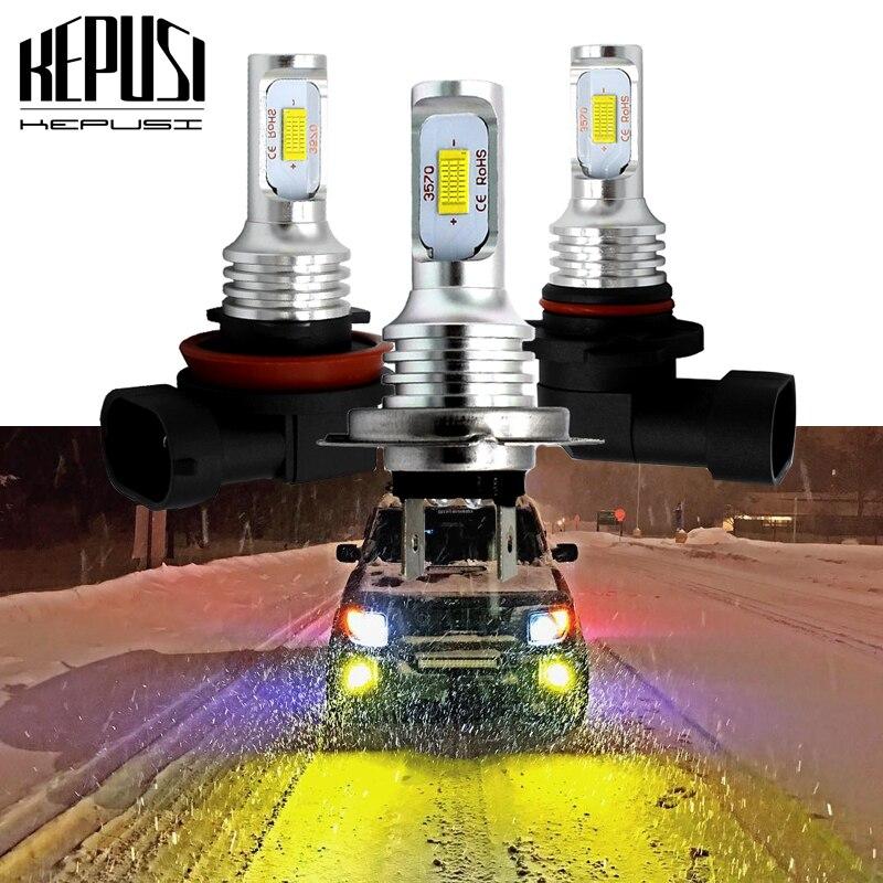 2x H7 6400LM 60W S7 LED Car Headlight Kit Bulb Fanless Drive lamp White 6000K CL