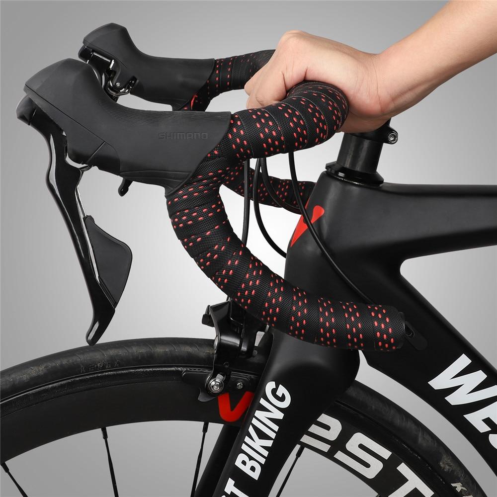 New PU EVA Non-slip Sports Road Bike Handlebar Tapes Drop Bar triangle Tape Wrap