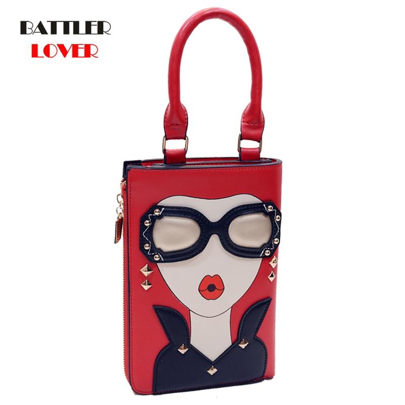 Sexy Woman Pattern Pearl Earrings Pu Leather Fashion Lady Totes Shoulder Bags Handbag Chain Purse Female Crossbody Messenger Bag