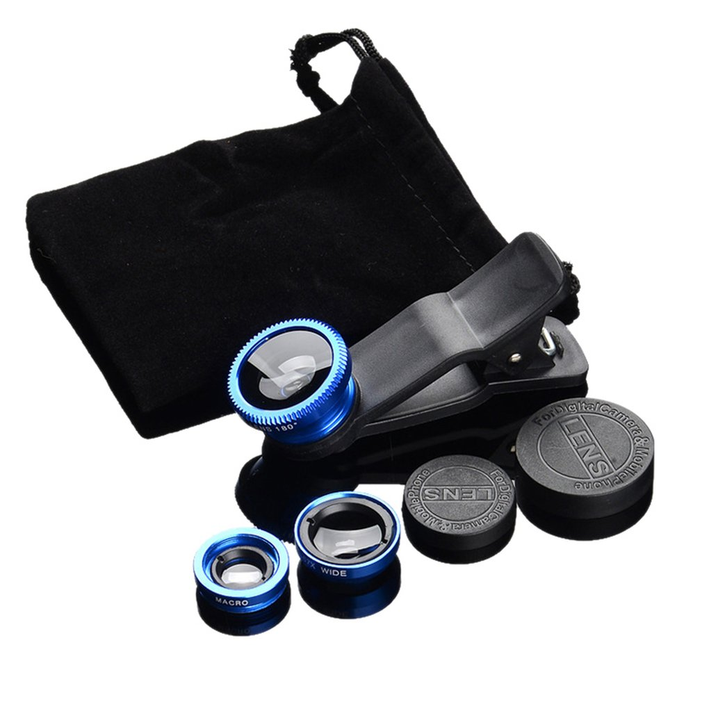 Camera-Kits Fisheye-Lens Mobile-Phone Macro Wide-Angle 3-In-1 with Clip-0.67x  title=