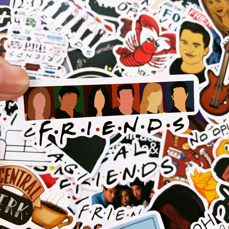 50 PCS Pack friends Sticker TV Series Show Gifts For Suitcase DIY Laptop Guitar Skateboard Phone Waterproof Stickers