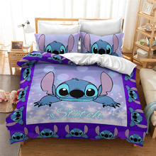 Bedspread Bedding-Set Stitch Bedroom Full-Queen-King-Size Children's Single Twin Cartoon