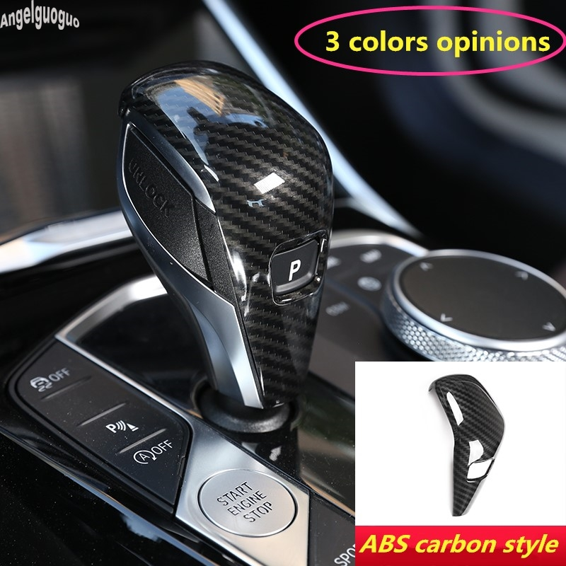 ABS Carbon Fiber chrome For BMW 3 series G20 2019-21 Car Speed Gear Shift Head Cover Trim Protection sequin Sticker 325li 330i