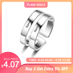 Персонализированные подарочные выгравированное имя обещают кольца для женщин на заказ BFF лучшие друзья кольцо из нержавеющей стали ювелир...