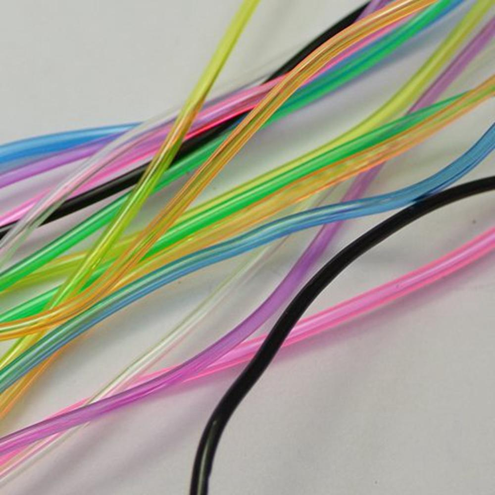 10 Meter Transparent Color 2mm Hollow Rubber Tubing Jewelry Cord Cover Memory Wire title=
