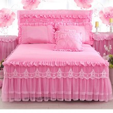 Pillowcases Bedspreads-Sheet Home-Decoration Mattress-Cover Bed-Skirt Bedding Ruffle