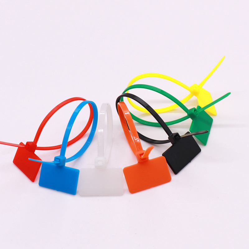 Nylon Binding Band 100 Pcs 4 * 150 Wide Wire Harness Plastic Binding Band Fixed Cable Marks Signs