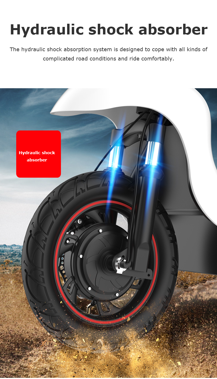 Daibot Electric Tricycle Bike 3 Wheels Electric Scooters Single Motor 500W 48V WhiteBlack Electric Scooter With Seat Adults  (7)