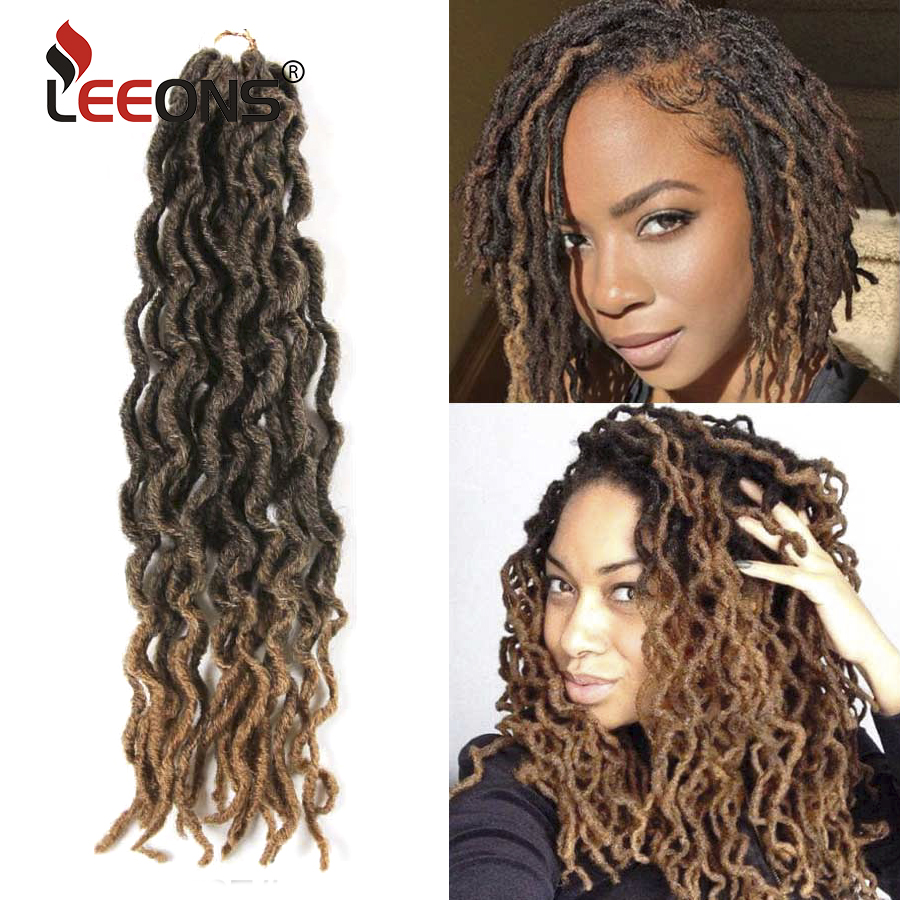 Leeons Hair-Extension Braid Crochet Locs Natural Bohemian Synthetic Ombre Soft Gypsy title=