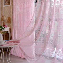Pink Girl Tulle Curtains Voile Sheers for Living Room Bedroom(China)