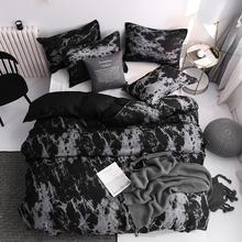 Bedding-Set Comforter Duvet-Cover-Sets Bed Linens Marble 200x200 Queen-Size Super-King