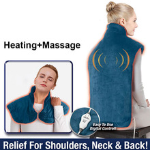 Relief-Wrap Massager Heating-Pad Back-Muscles Neck-Shoulder Household Flannel Extra-Long-Massaging