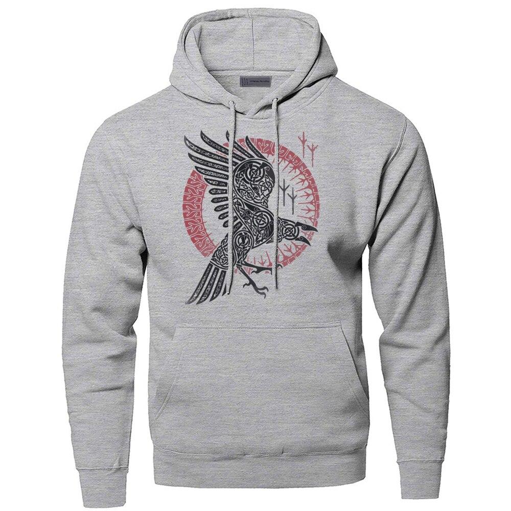 Hoodies Men Odin Vikings Sweatshirts Ragnar Raven Hooded Sweatshirt Sons Of Anarchy Winter Autumn Gone to Valhalla Sportswear