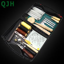 Tool-Box Punch Groover-Set-Accessories Craft-Tools-Kit Stitching Hand-Sewing Carving-Work