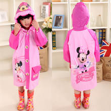 Kids Raincoat Frozen Girls Children Poncho Riding Mickey Outdoor Inflatable Boys Minnie