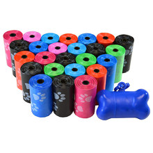 10 Rolls Paw Printing Dog Poop Bag 15 Bags/ Roll Large Cat Waste Bags Doggie Outdoor Home Clean Refill Garbage Bag(China)