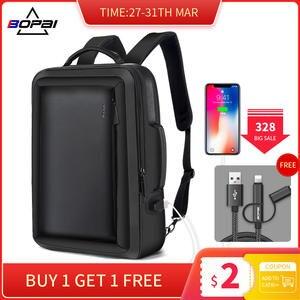 BOPAI увеличенный рюкзак для ноутбука с защитой от кражи, USB, внешняя зарядка, 16 дюймов, многофункциональный рюкзак, сумка для путешествий, Мужс...