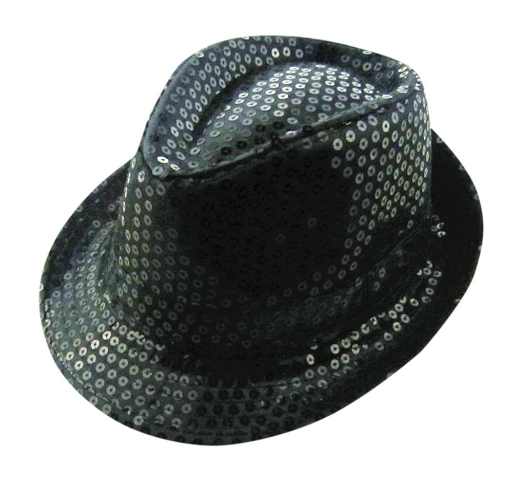 Sequin Fedora Hat Children boys girls Unisex Jazz Hat Cap Trilby  hat Cap Performance Carnival birthday hat Party